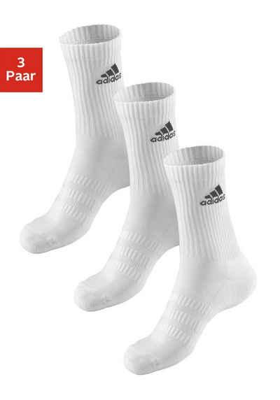 adidas Performance Tennissocken (3-Paar) mit Fuß Polsterung