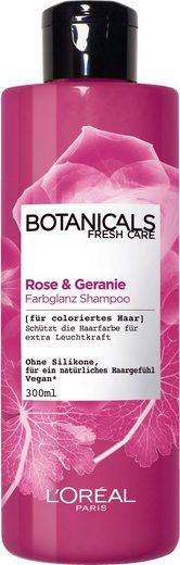 BOTANICALS Haarshampoo »Rose und Geranie«, Farbglanz