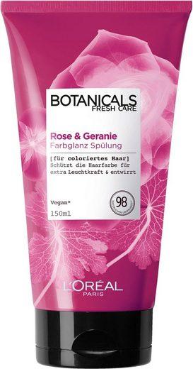 BOTANICALS Haarspülung »Rose und Geranie«, Farbglanz