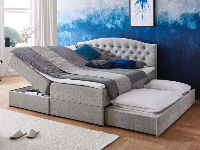 ATLANTIC home collection Boxspringbett, mit Topper, Bettkasten und Gästebett