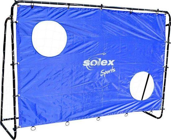solex sports Fußballtor »Torwand Soccer Goal 2in1 Set - Kinder Fusball-Tor und Torschusswand« (2in1 Kinderfussballtor und Torschusswand)