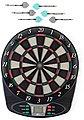 solex sports Dartautomat »Elektronische Dartscheibe 1-8 Spieler« (mit Dartpfeilen), Bild 2