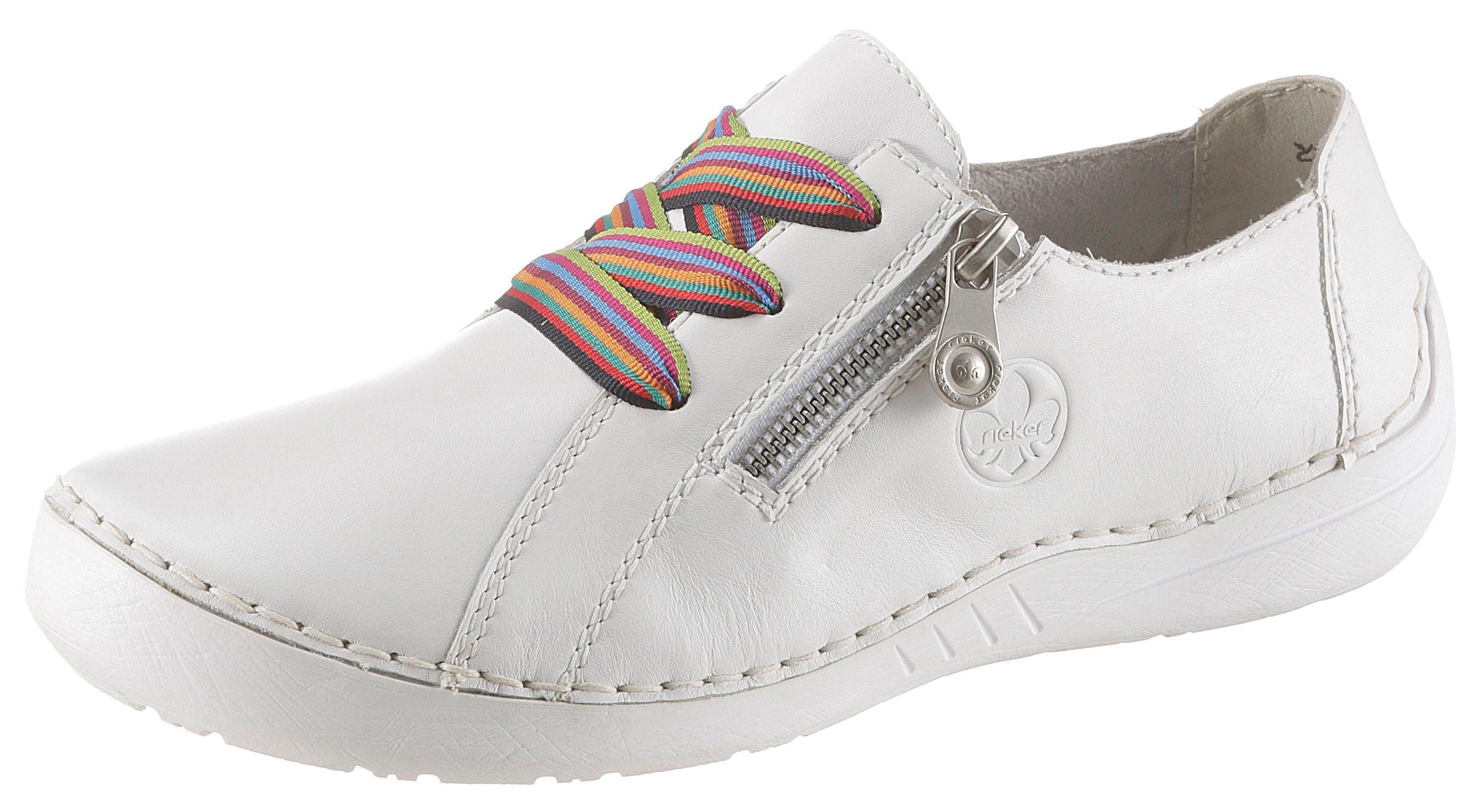 Rieker Sneaker mit seitlichem Logodruck, Mit bunten Schnürsenkeln online kaufen   OTTO