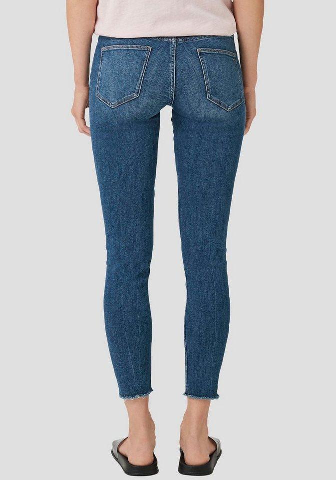 s oliver stretch jeans mit coolem knopf verschluss und. Black Bedroom Furniture Sets. Home Design Ideas