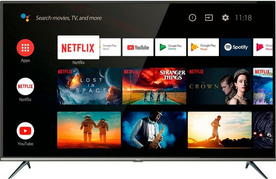 TCL 55EP644 LED-Fernseher (139 cm/55 Zoll, 4K Ultra HD, Smart-TV, Android 9.0 Betriebssystem)