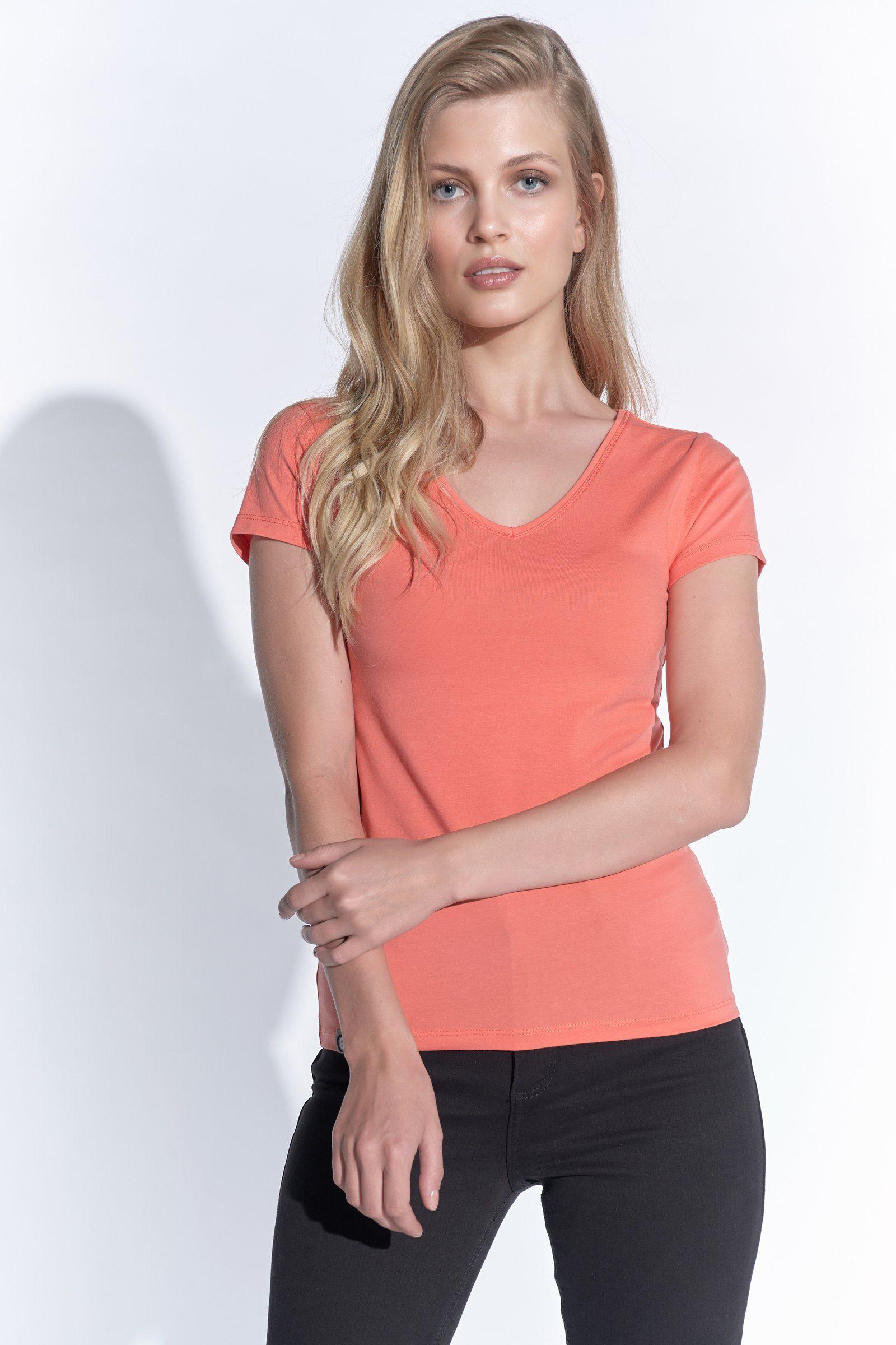 901 Samoon T-Shirt Damen Damen Übergröße 42 bis 48 Khaki gestreift