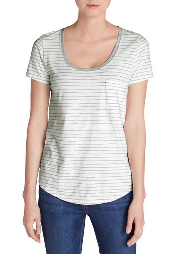 Eddie Bauer Blusenshirt Gypsum T-Shirt mit Tasche - gestreift