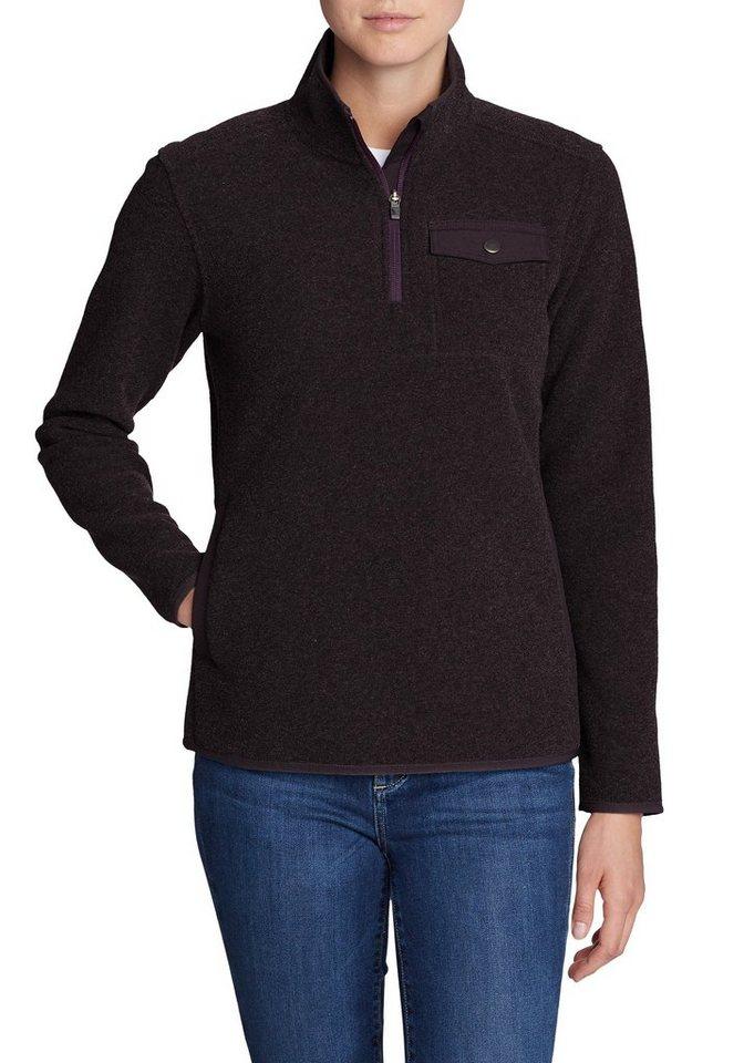 Eddie Bauer Fleeceshirt Boucle Fleeceshirt mit Reißverschluss   Bekleidung > Sweatshirts & -jacken > Fleeceshirts   Lila   Bouclé - Polyester - Viskose   Eddie Bauer
