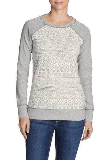 Eddie Bauer Sweatshirt Legend Wash Sweatshirt mit Häkeldetails
