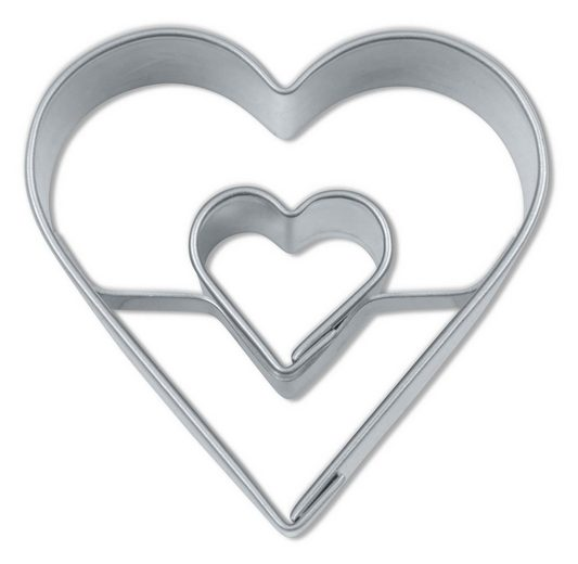 STÄDTER Ausstechform Herz in Herz »Hochzeit«