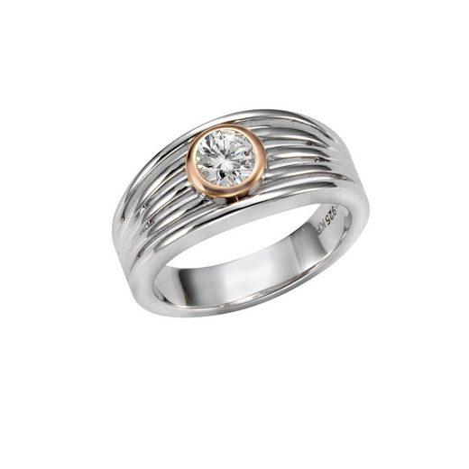 Vivance Ring »925-/ Sterling Silber zweifarbig Zirkonia«