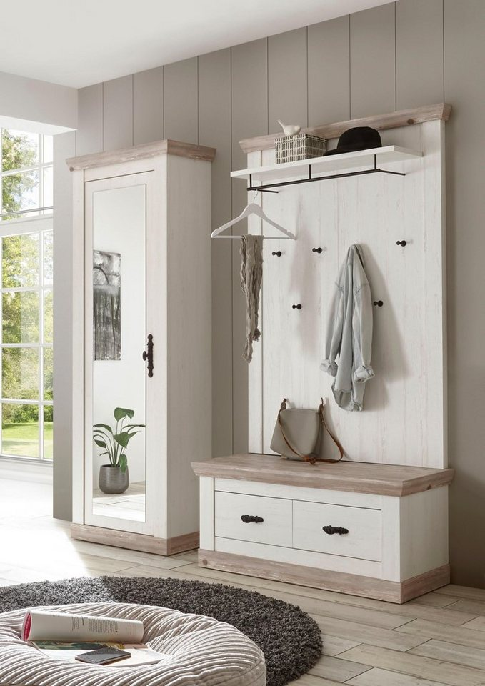 home affaire garderoben set florenz 3 tlg bestehend. Black Bedroom Furniture Sets. Home Design Ideas