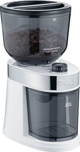 Graef Kaffeemühle CM 201, weiß, 130 W, Scheibenmahlwerk, 225 g Bohnenbehälter