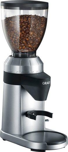 Graef Kaffeemühle CM 800, silber, 120 W, Kegelmahlwerk, 350 g Bohnenbehälter