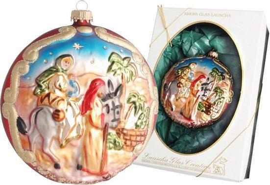 Krebs Glas Lauscha Weihnachtsbaumkugel »Reise nach Bethlehem« (1 Stück), mundgeblasen