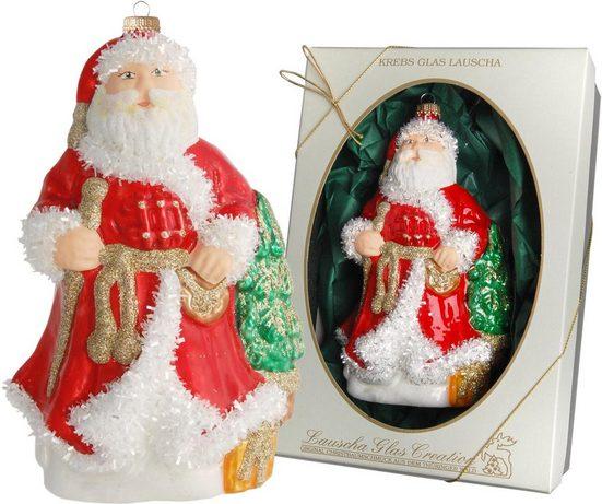Krebs Glas Lauscha Christbaumschmuck »Weihnachtsmann« (1-tlg), Höhe 16 cm, mundgeblasen