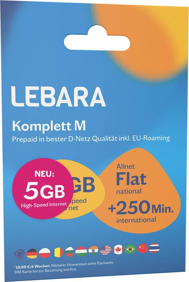 Prepaid Karte Internet.Lebara Prepaid Karte Komplett M Tarif Paket Otto