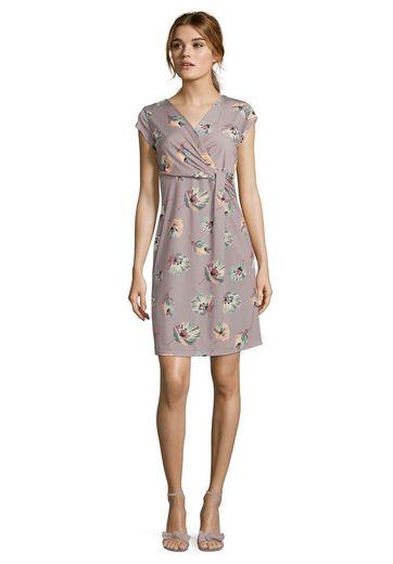 Cartoon Casual-Kleid mit Blumenprint