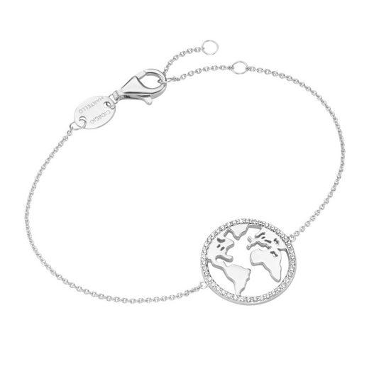 GIORGIO MARTELLO MILANO Armband »Weltkarte mit Zirkonia«