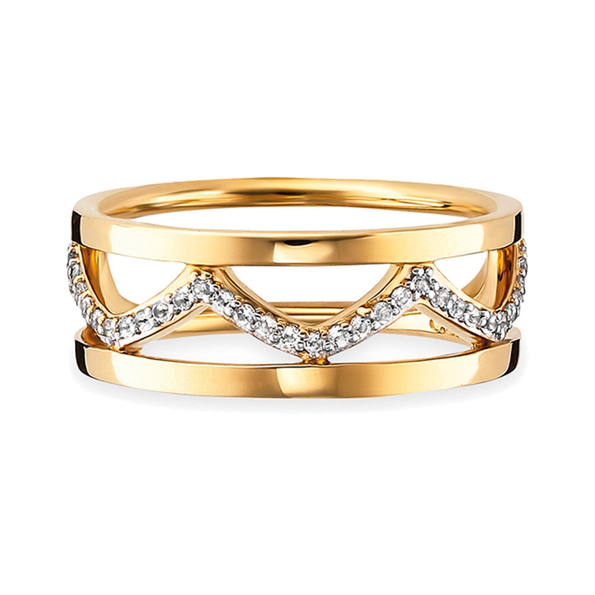 Silber Ring »925Sterling Topas« Caï Vergoldet eWYHDE29I