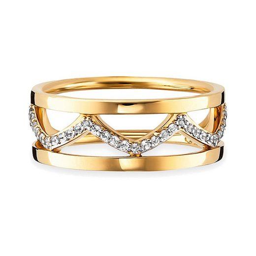 CAÏ Ring »925/- Sterling Silber vergoldet Topas«