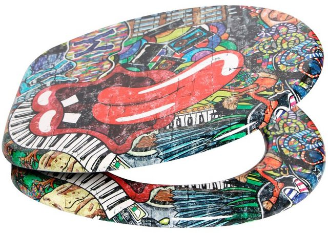 WCs und Zubehör - SANILO WC Sitz »Graffiti«, mit Absenkautomatik  - Onlineshop OTTO