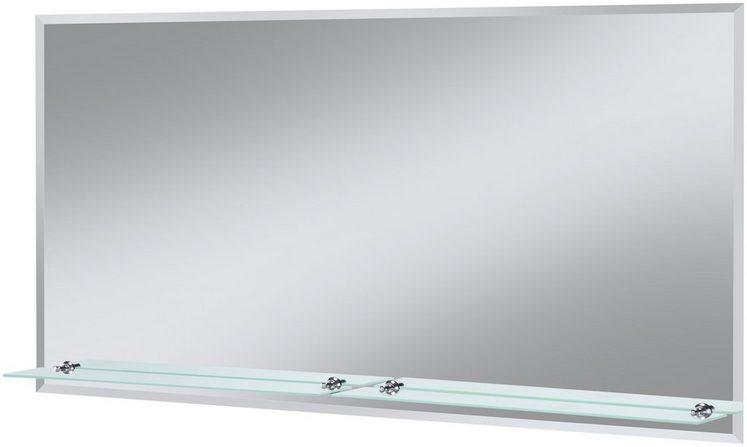 Badspiegel »Flex«, 120 x 60 cm, mit Glasablage und Facettenschliff