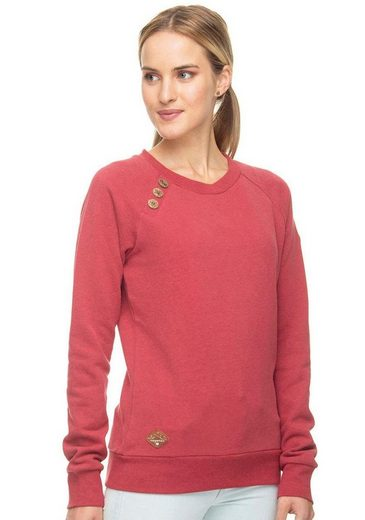 Ragwear Sweater »DARIA« mit dem Ragwear spirituellen Knopf-Design: Venusblume