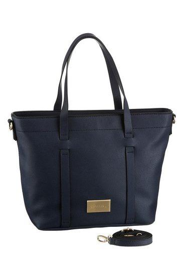 Comma Henkeltasche »be yourself handbag mhz«, mit goldfarbenen Details und zeitlosem Design