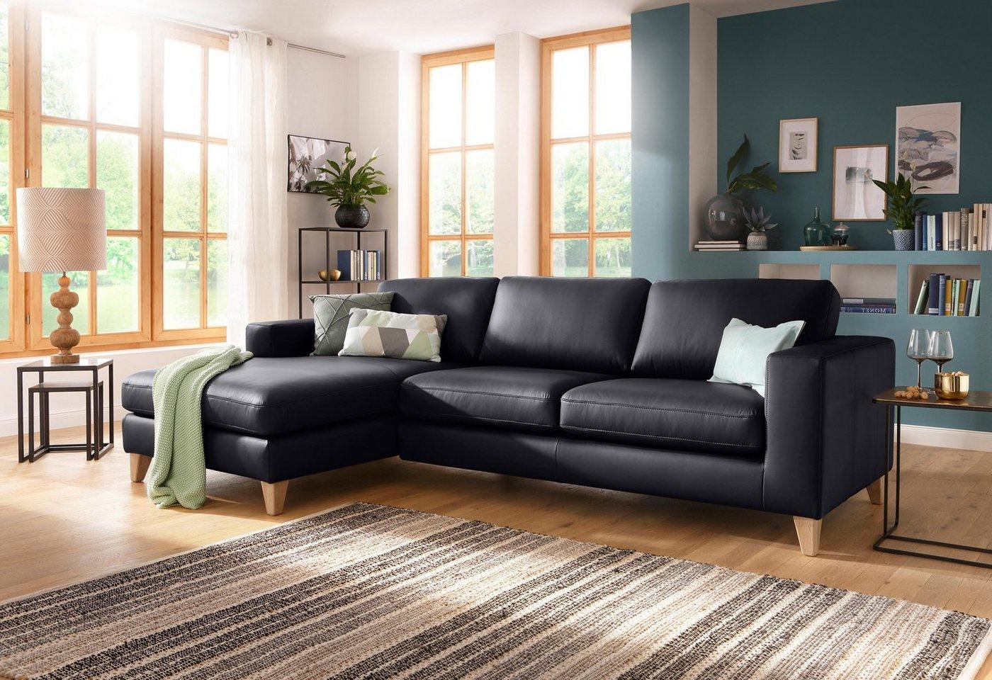 Sofas - Home affaire Ecksofa »Wolin« mit Massivholzfüßen im schönen Landhaus Design  - Onlineshop OTTO