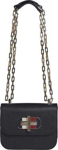 TOMMY HILFIGER Umhängetasche »TURNLOCK MINI CROSSOVER«, mit modischer Umhängekette