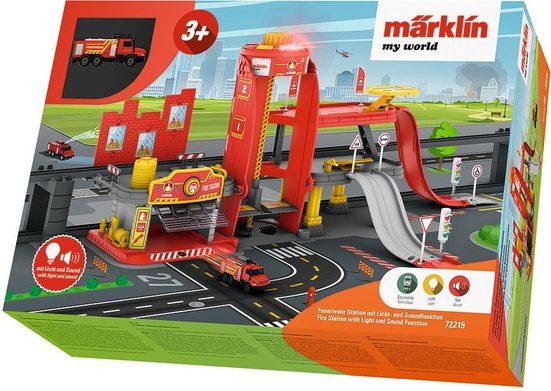 """Märklin Modelleisenbahn-Gebäude """"Märklin my world - Feuerwehr Station mit Licht- und Soundfunktion - 72219"""", Spur H0"""