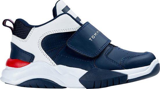 TOMMY HILFIGER »MID CUT VELCRO SNEAKER« Sneaker mit breitem Klettband und Logo Schriftzug