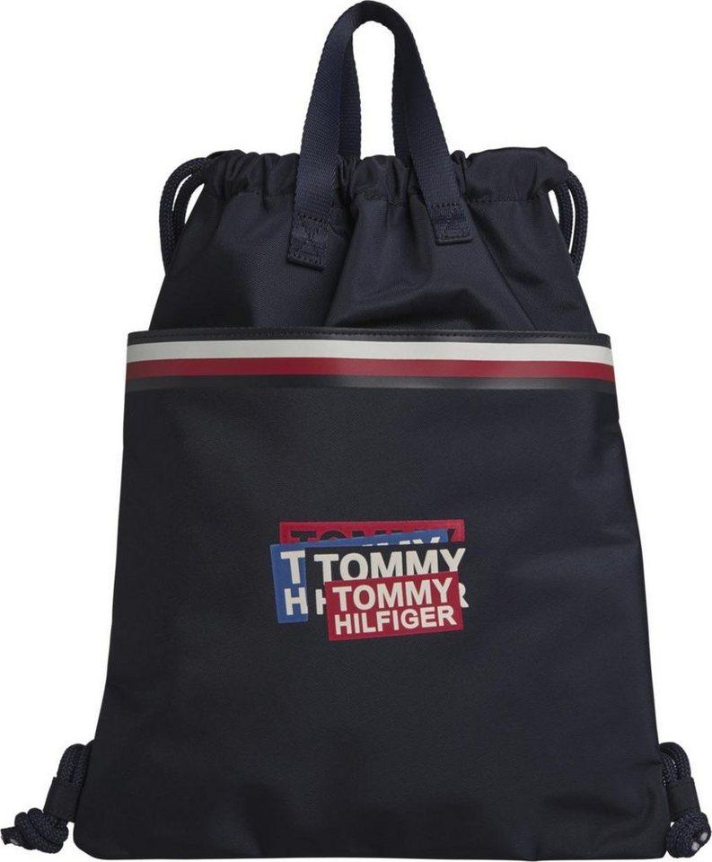tommy hilfiger cityrucksack th kids corp drawstring backpack auch als tasche zu tragen online. Black Bedroom Furniture Sets. Home Design Ideas