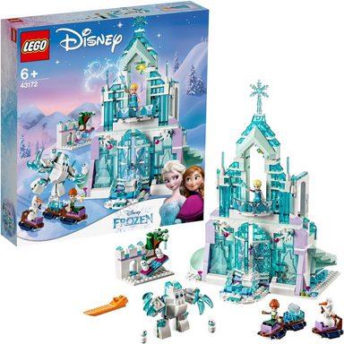LEGO® Konstruktionsspielsteine »Elsas magischer Eispalast (43172), LEGO® Disney«, (701 St)