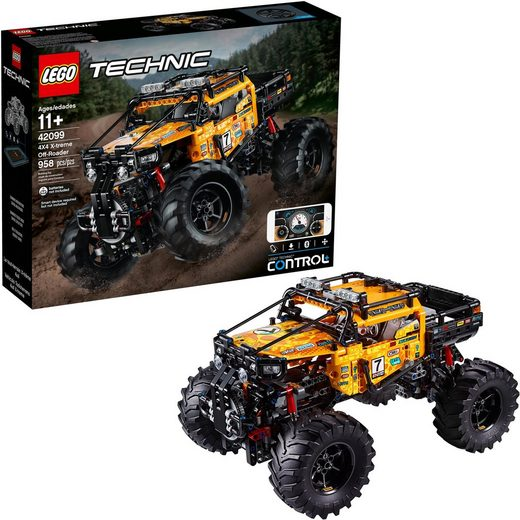 LEGO® Konstruktionsspielsteine »Allrad Xtreme-Geländewagen (42099), LEGO® Technic«, (958 St)
