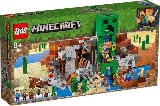 LEGO® Konstruktionsspielsteine »Die Creeper™ Mine (21155), LEGO® Minecraft™«, (834 St)