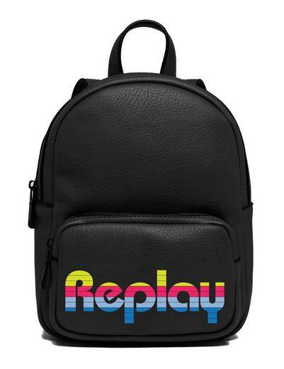 Replay Minirucksack, mit Reißverschluss-Vortasche im Mini Format