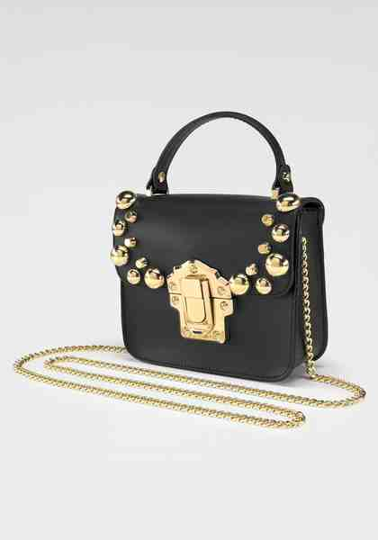 GUIDO MARIA KRETSCHMER Handtasche, aus hochwertigem Leder mit goldfarbenen Nieten