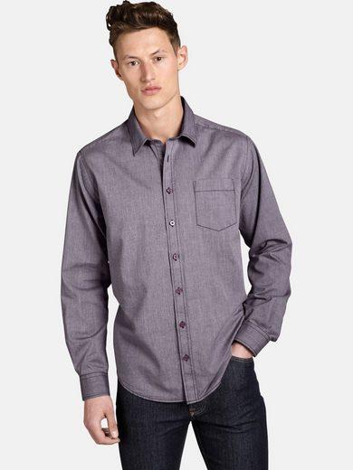 SHIRTMASTER Langarmhemd »purplefall« mit Kontrast-Stiching