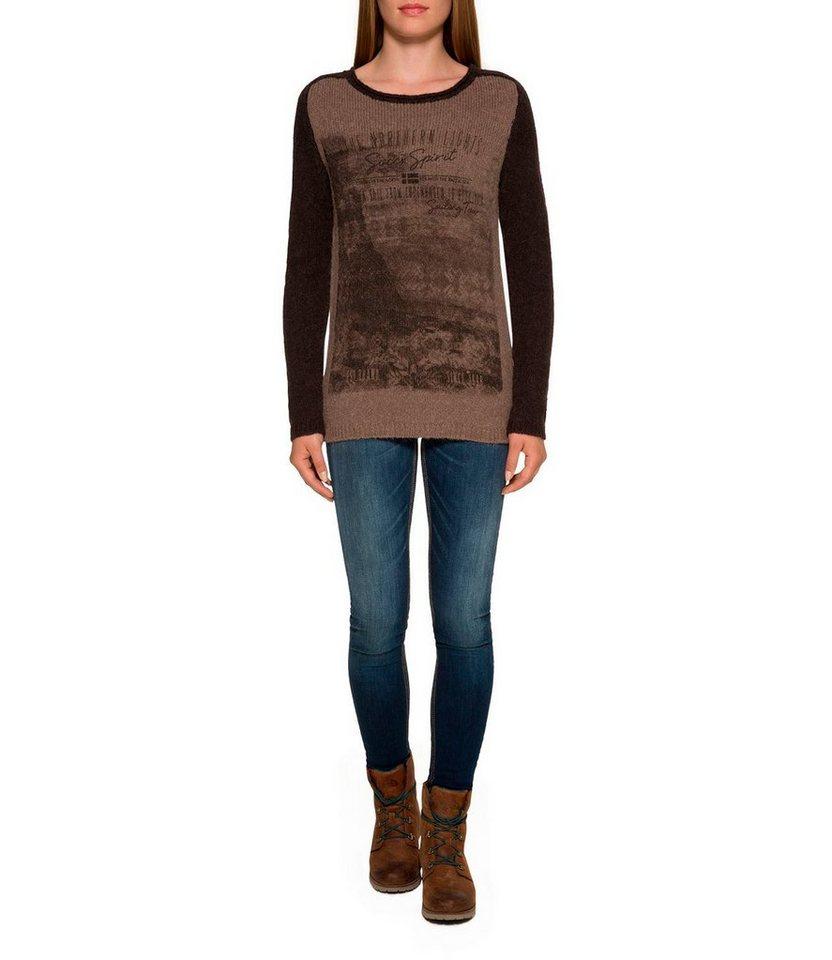 Damen SOCCX Wollpullover aus weichem Wollmix braun | 04048181726186