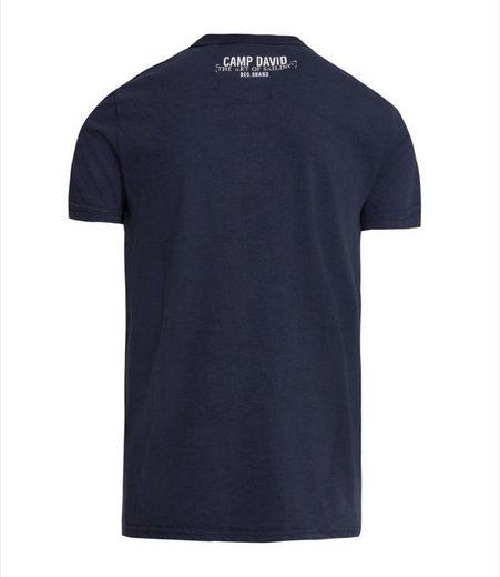CAMP DAVID Poloshirt mit verlängerter Rückenpartie