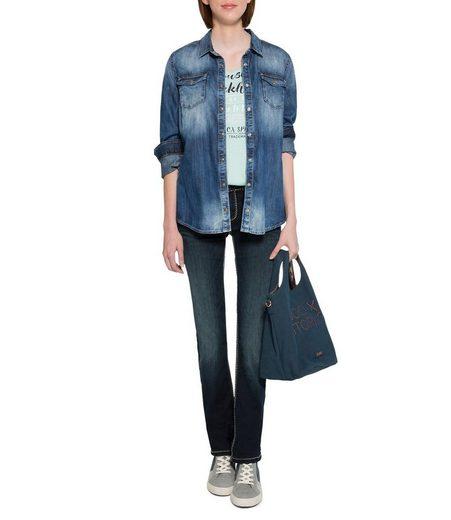 SOCCX Stretch-Jeans mit Ziernähten