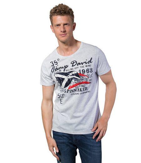 CAMP DAVID T-Shirt mit Overlocknähten