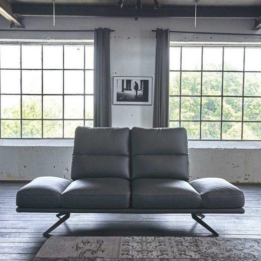 KAWOLA Sofa 2,5 Sitzer Leder anthrazit »AVISTA«