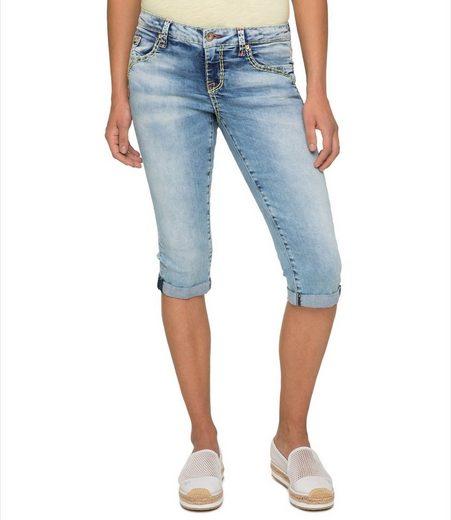 SOCCX Jeansbermudas mit breiten Nähten