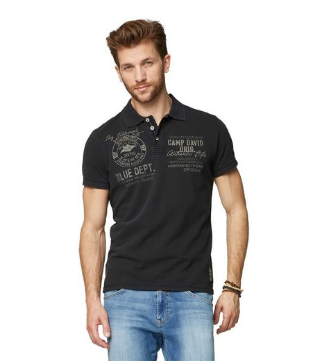 CAMP DAVID Poloshirt mit Print