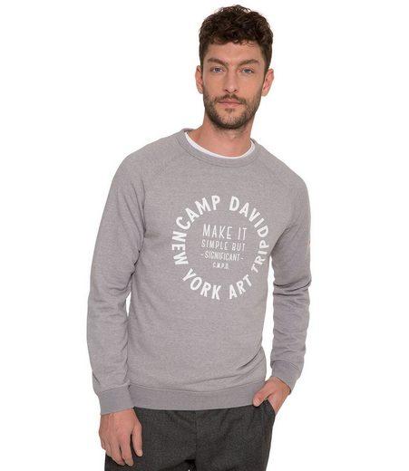CAMP DAVID Sweater mit Print
