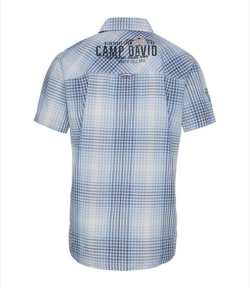 exclusive range new lifestyle info for CAMP DAVID Hemd Stickerei, Kontrastdreiecke unten an der Seitennaht online  kaufen | OTTO