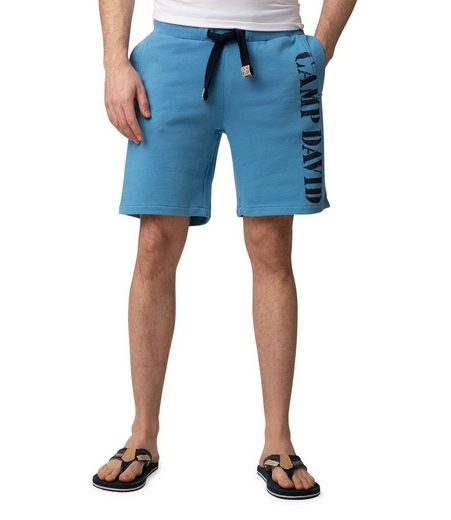 CAMP DAVID Sweatshorts mit Label Print